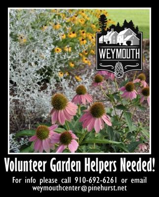 Volunteer Garden Helpers Needed The Weymouth Center